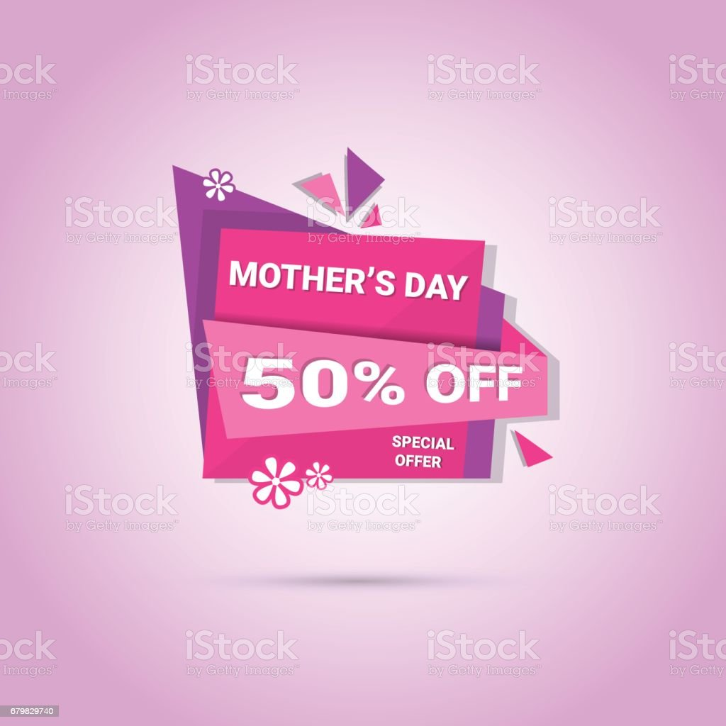 Shopping Sale Happy Mother Day Discount Sticker Spring Holiday