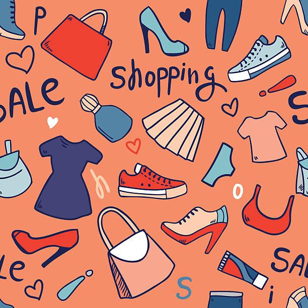 shopping sale pattern vector art illustration
