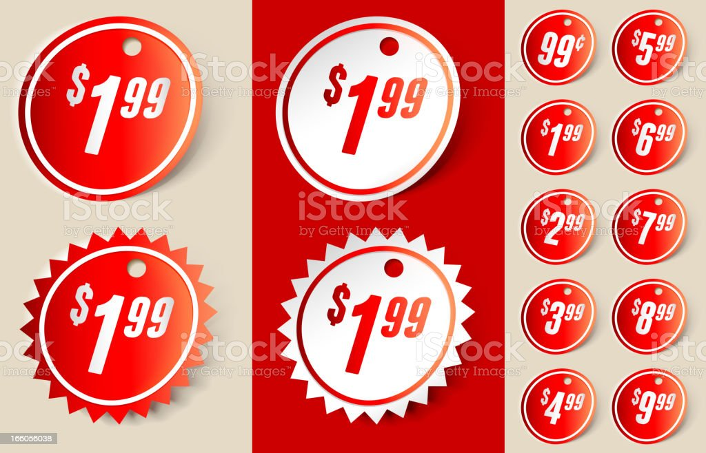 Shopping Sale Price Sign Ribbon Tag royalty-free stock vector art