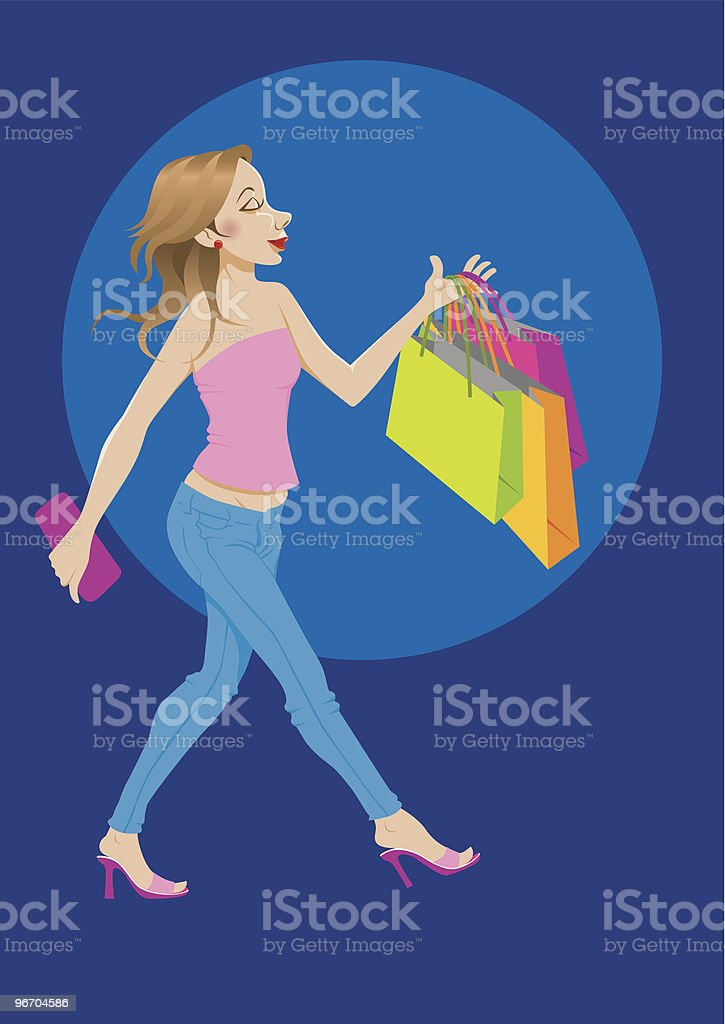 Shopping Satisfaction royalty-free stock vector art
