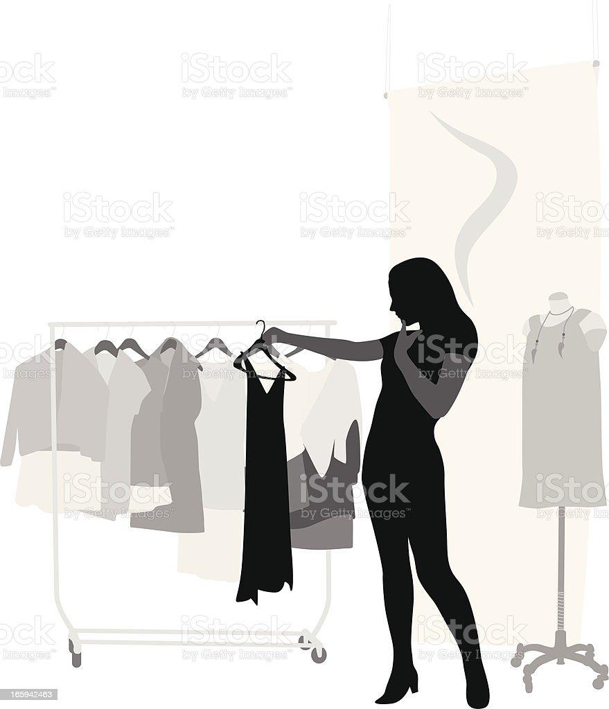Shopping Sense Vector Silhouette vector art illustration