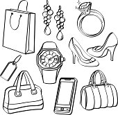 A collection of different kinds of consumer goods. It contains hi-res JPG, PDF and Illustrator 9 files.