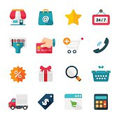 Shopping Set   Flat Design Icons