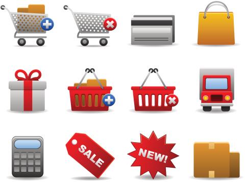 Shopping Set Stock Illustration - Download Image Now