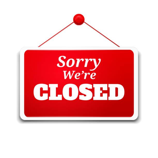 znak pokładzie zakupy - zamknięty stock illustrations