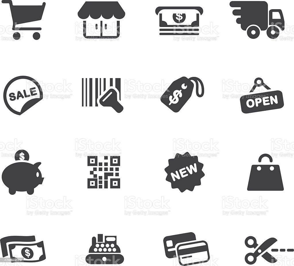 Shopping Silhouette Icons vector art illustration