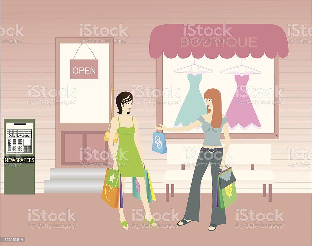Shopping Spree royalty-free stock vector art