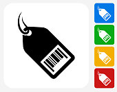 Shopping Tag Icon Flat Graphic Design