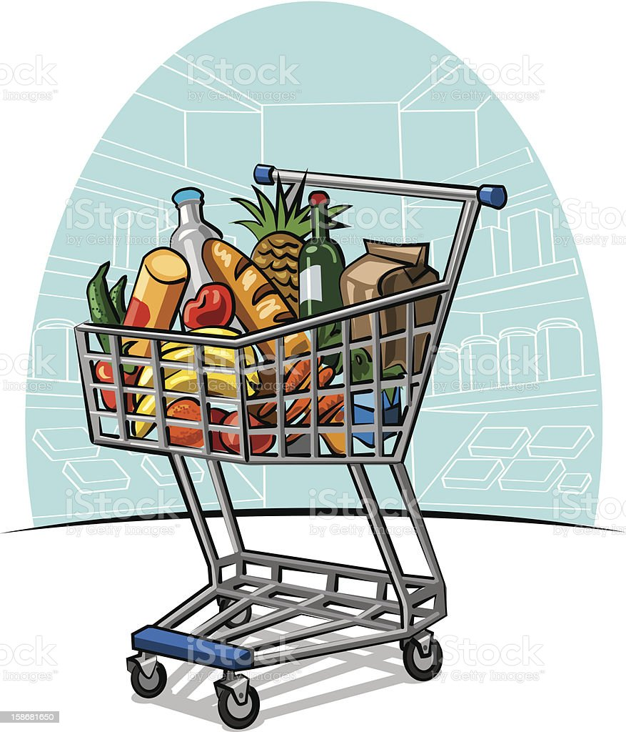 shopping trolley royalty-free stock vector art