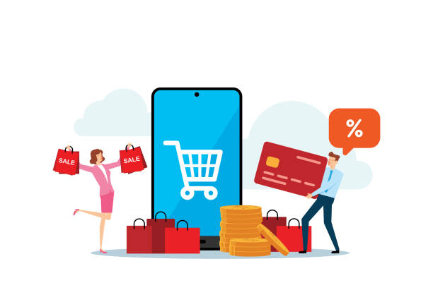 Shopping vector art illustration