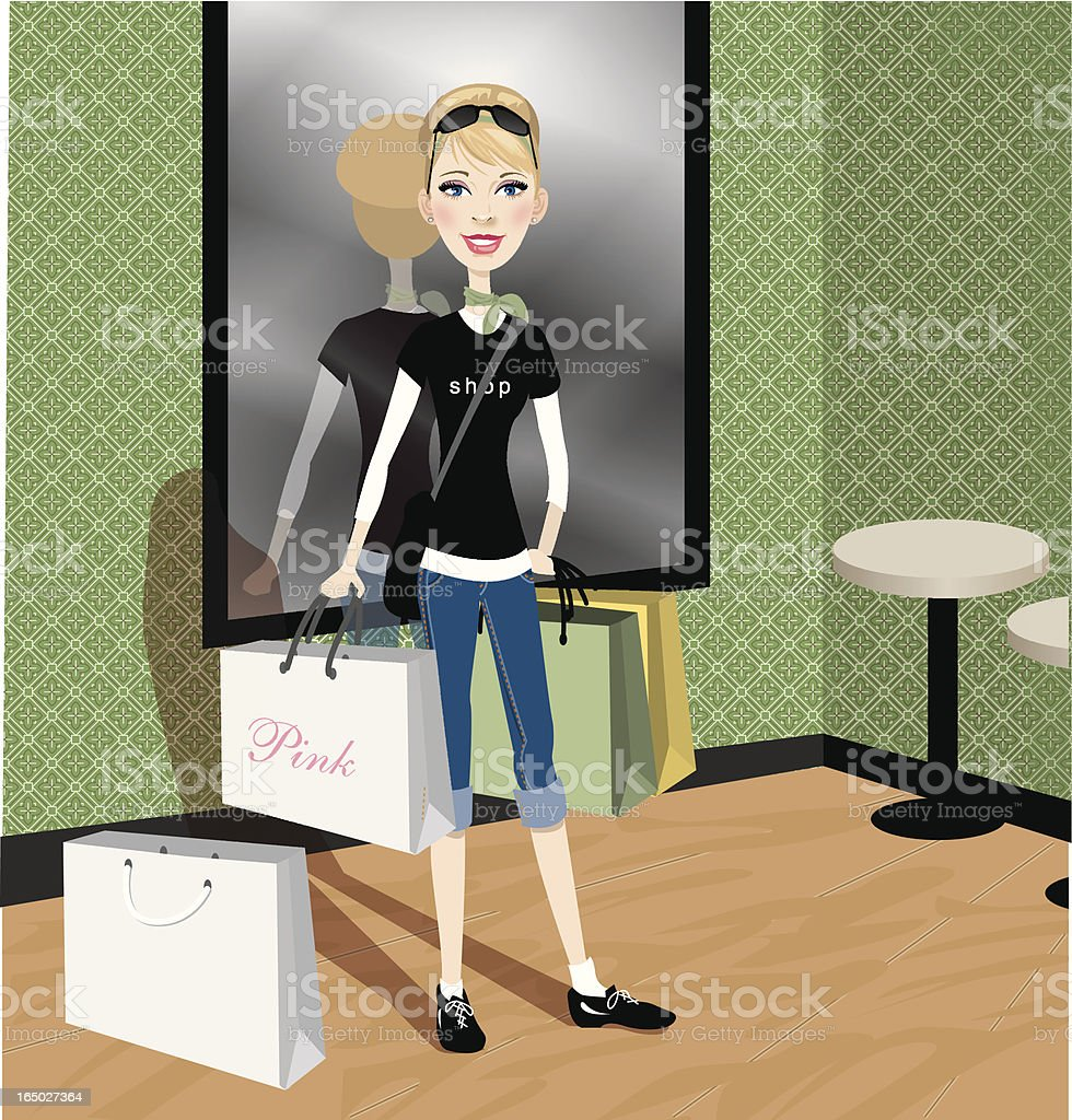 Shopping royalty-free stock vector art
