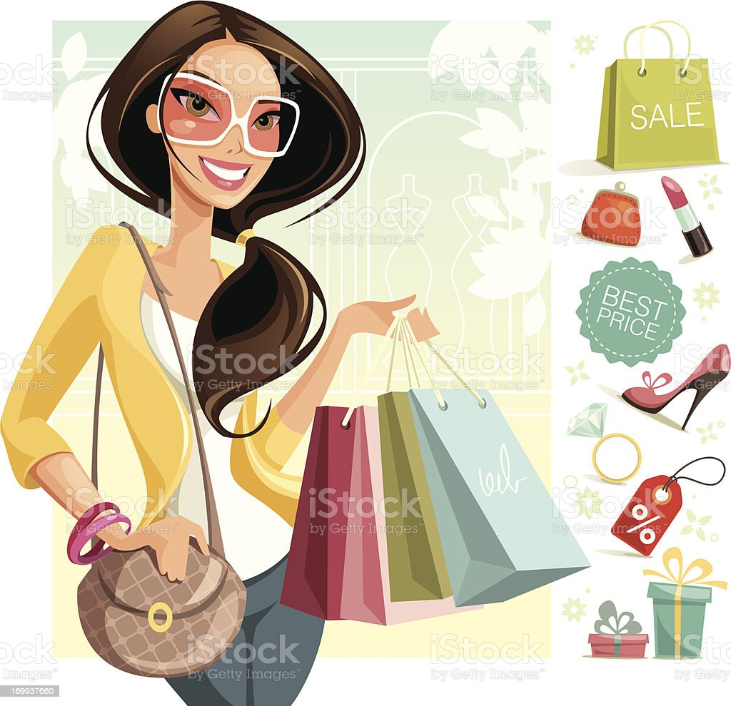 Shopping vector art illustration