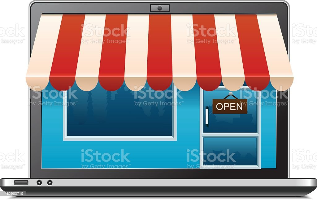 Shopping royalty-free shopping stock vector art & more images of awning