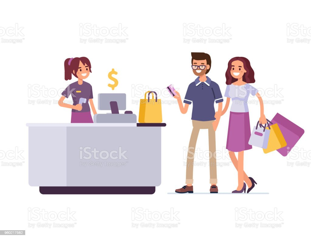 ショッピング街 ベクターアートイラスト