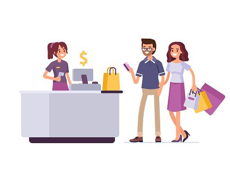 Retail profession stock illustrations
