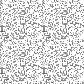 Shopping vector seamless pattern. Vector eps8 format