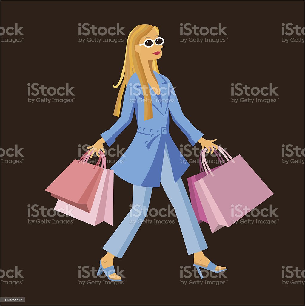 Shopping Woman royalty-free shopping woman stock vector art & more images of adult