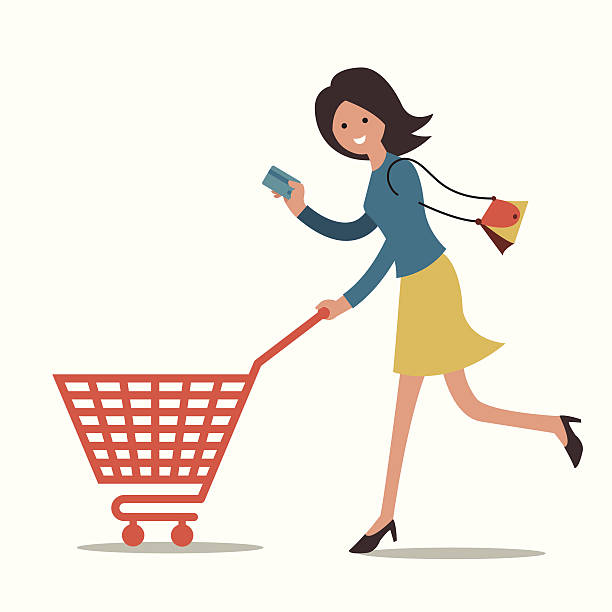 Image result for shopping with credit illustrations
