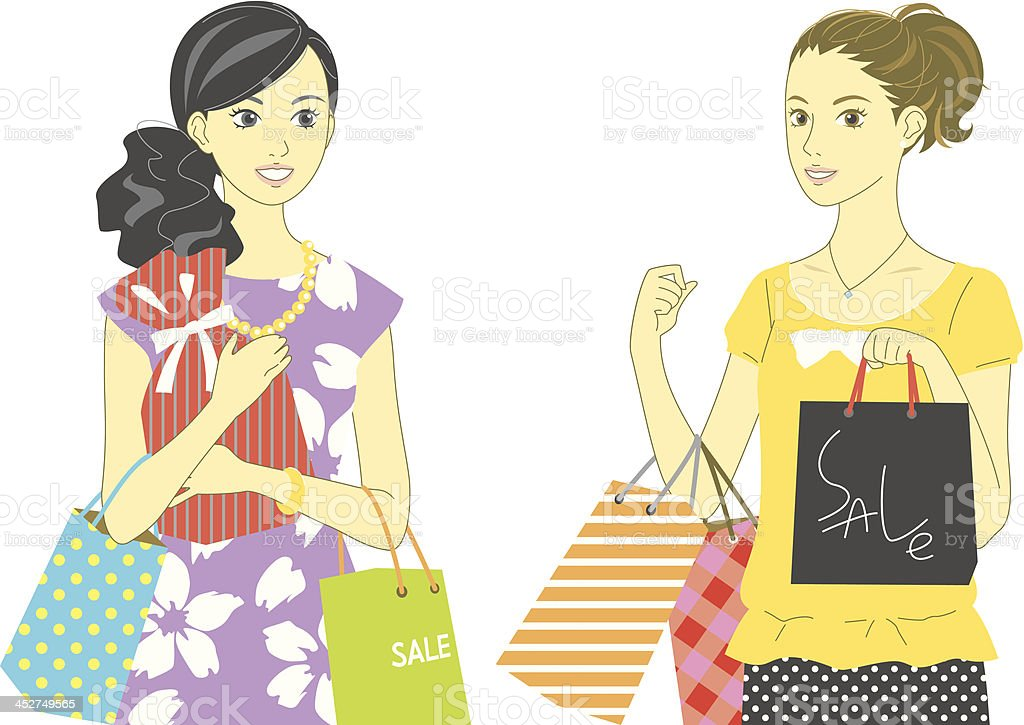 shopping, women royalty-free stock vector art