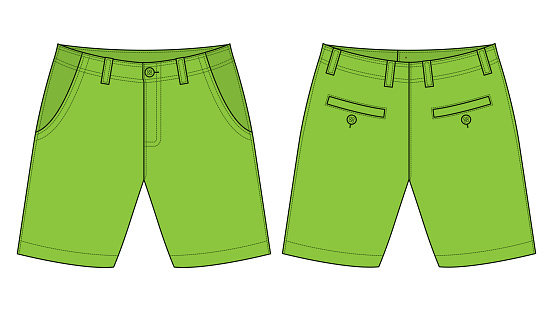 Short Green Pants Vector For Template