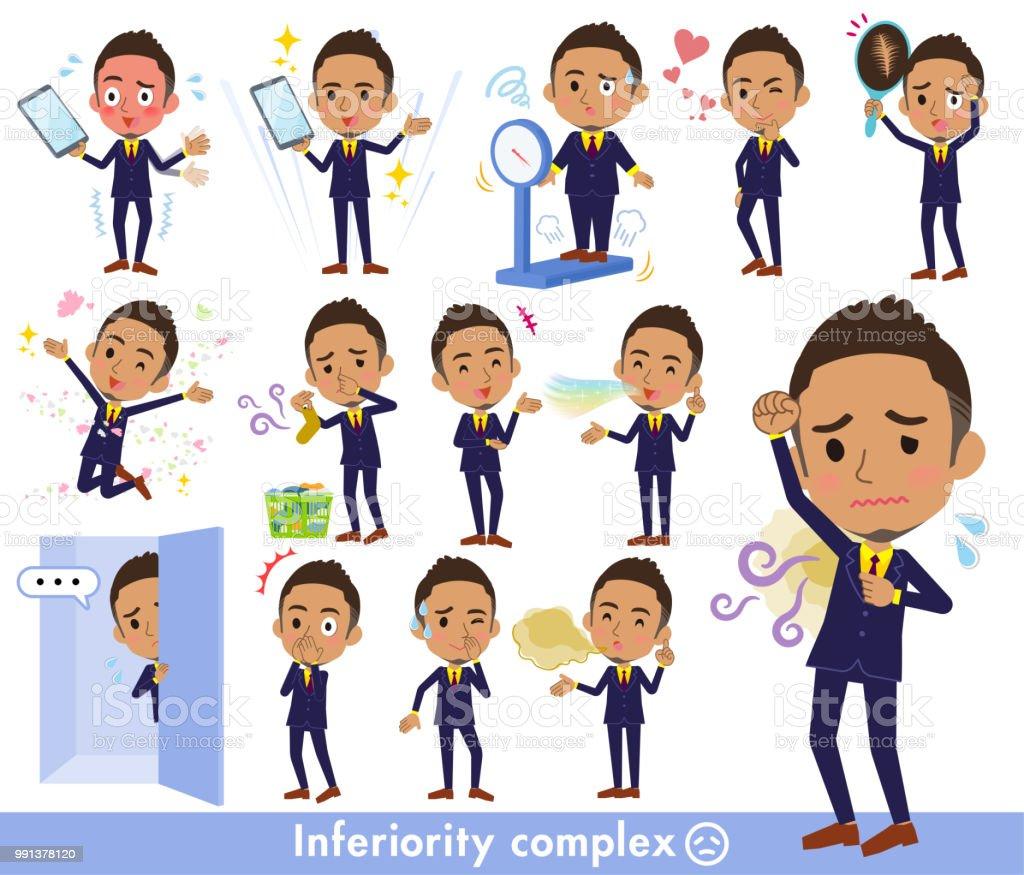 Short hair businessman black_complex vector art illustration