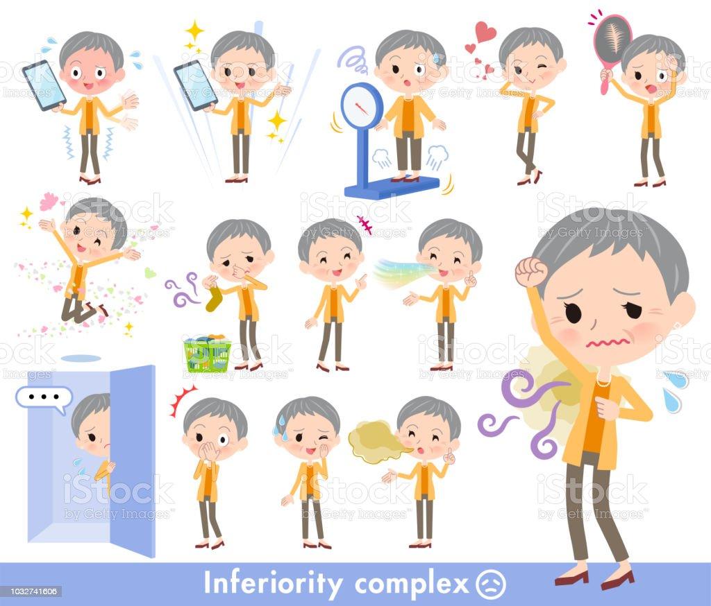 short hair old women_complex