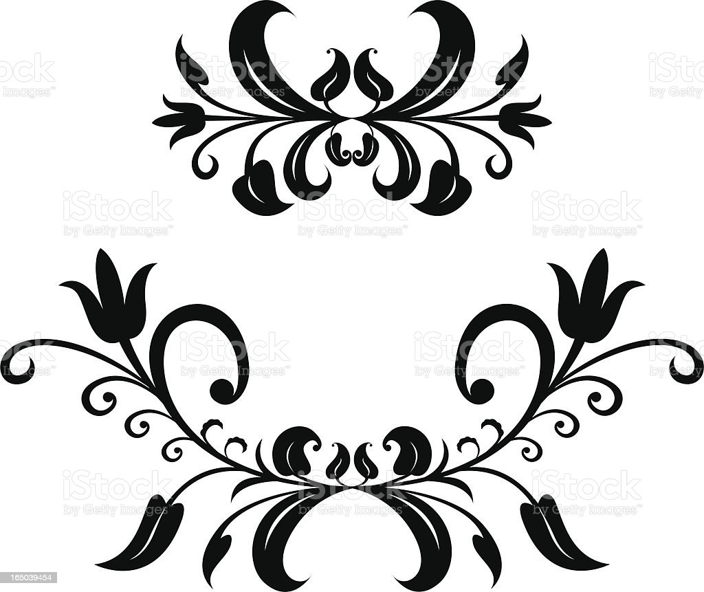 short scroll ornaments royalty-free stock vector art