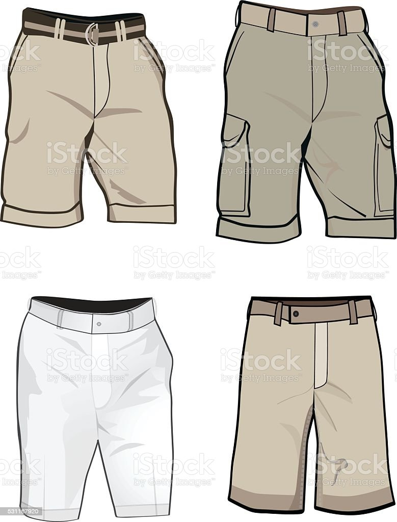 Shorts templates. vector art illustration