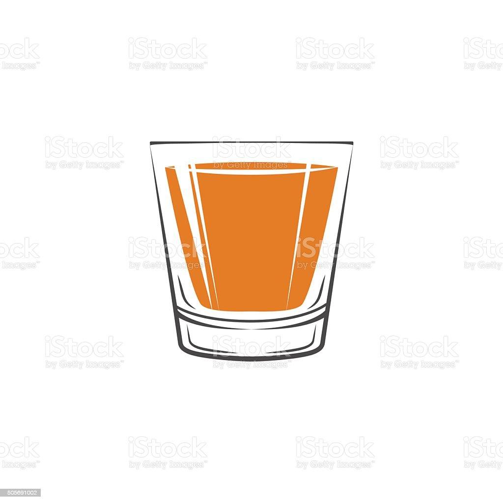 shot glass of whiskey icon vector illustration stock vector art rh istockphoto com Black Shot Glass Clip Art Shot Glass Clip Art Black and White
