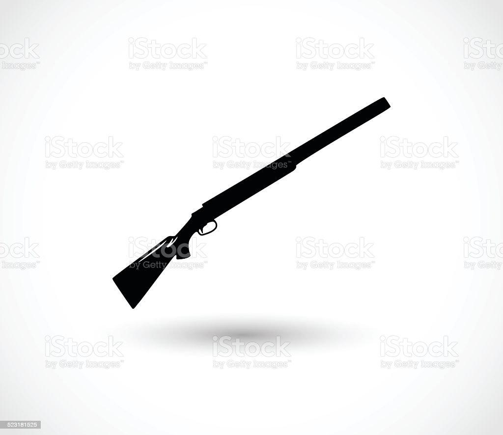 Shotgun icon vector vector art illustration