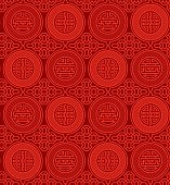 Shou and cai / Variation 1 (Seamless, oriental pattern)