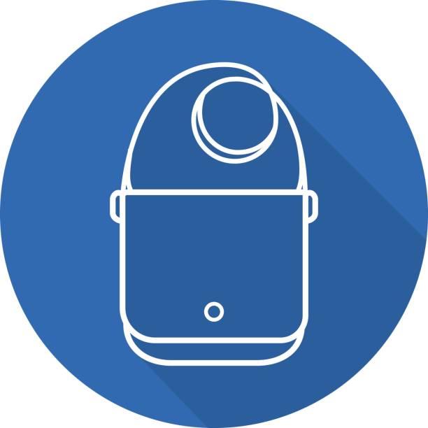 schultertasche-symbol - laptoptaschen stock-grafiken, -clipart, -cartoons und -symbole
