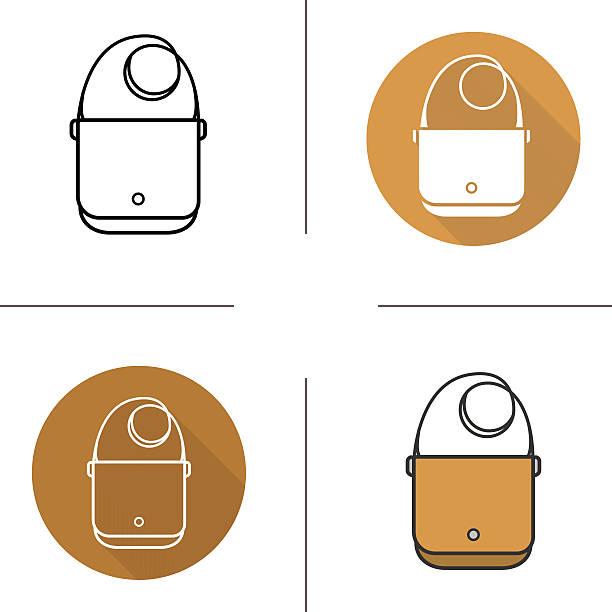 shoulder bag icons - laptoptaschen stock-grafiken, -clipart, -cartoons und -symbole