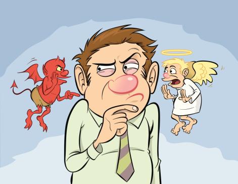 Shoulder Devil And Angel Stock Illustration - Download Image Now