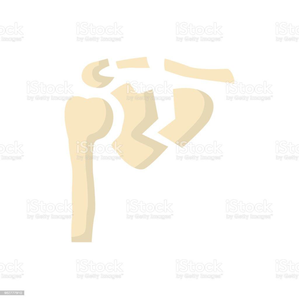 Schulter Menschlichen Knochenbruch Symbol Vektor Flach Stock Vektor ...