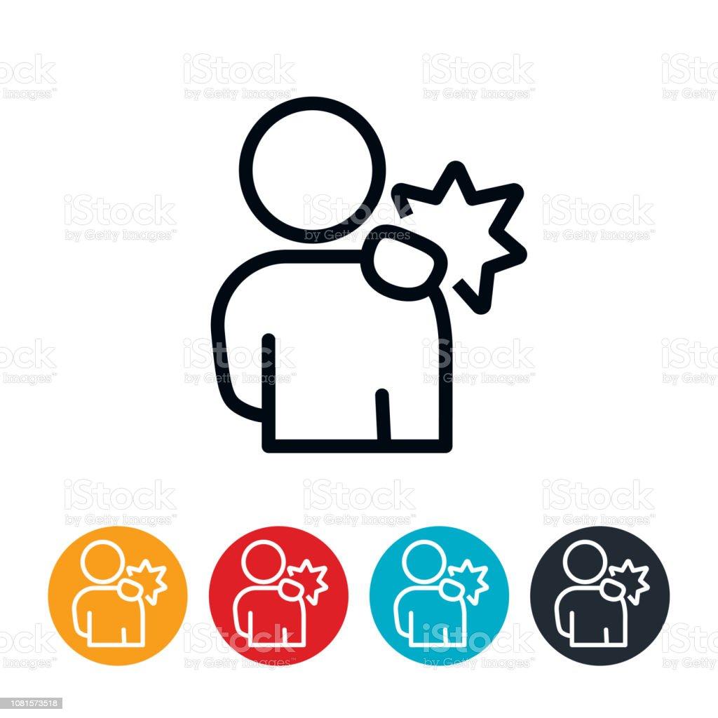 Shoulder Pain Icon vector art illustration