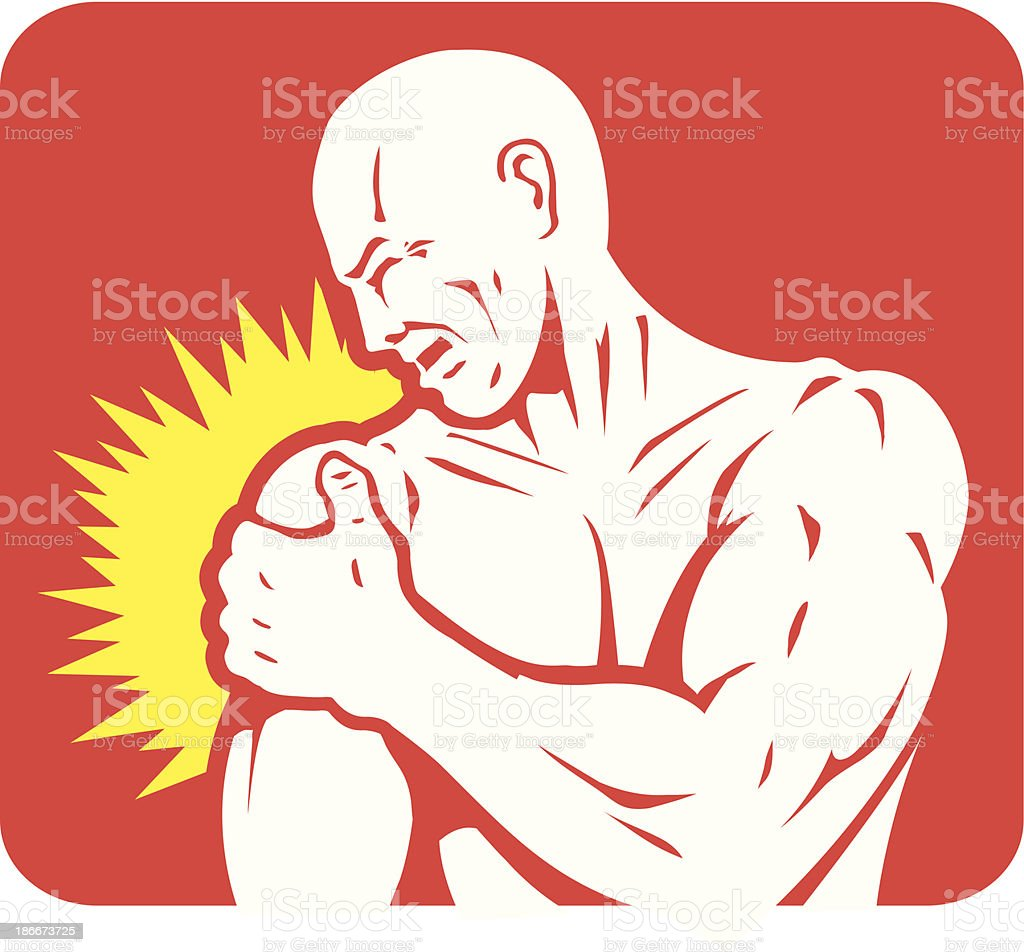Shoulder pain Icon royalty-free stock vector art