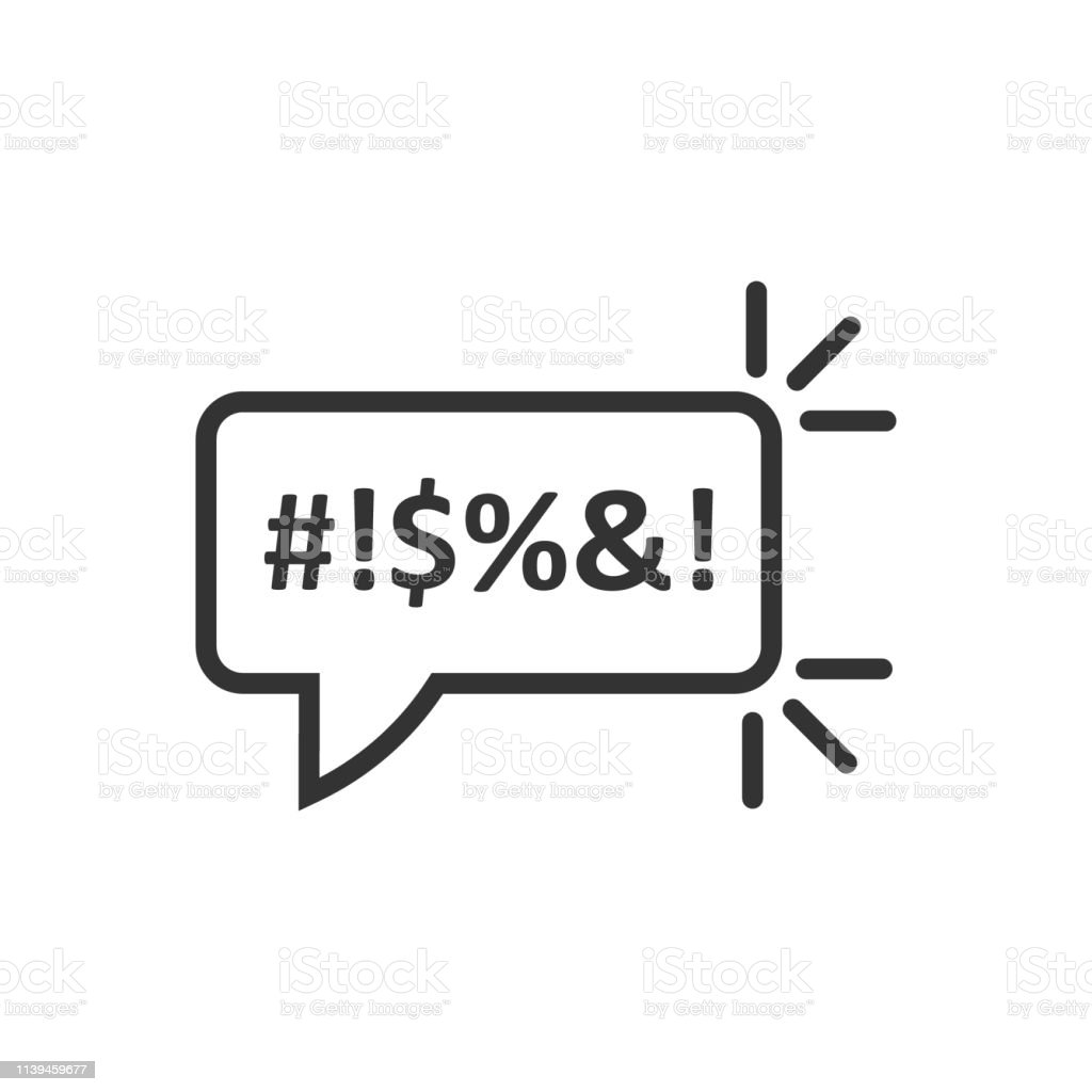 Shout speech bubble icon in flat style. Complain vector illustration...