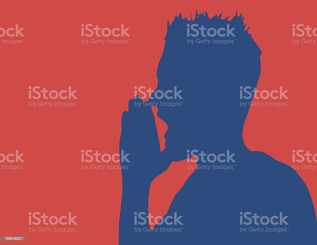 Shout royalty-free stock vector art