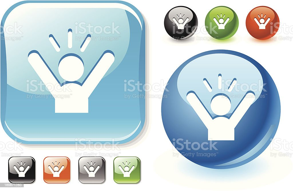 Shouting man icon set royalty-free stock vector art
