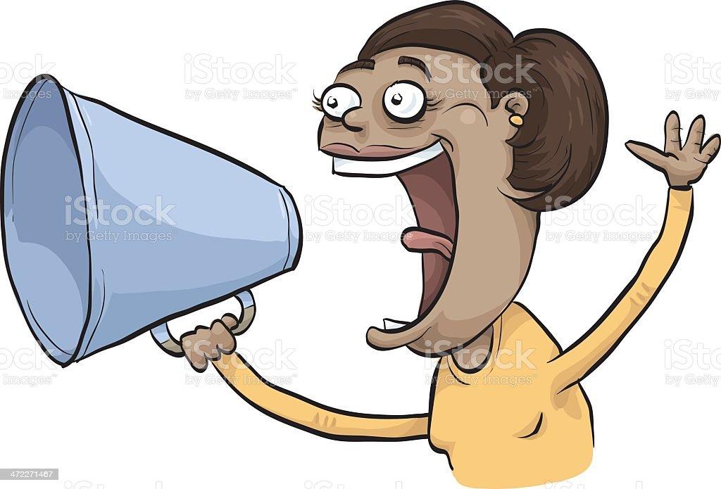 Shouting Woman royalty-free stock vector art