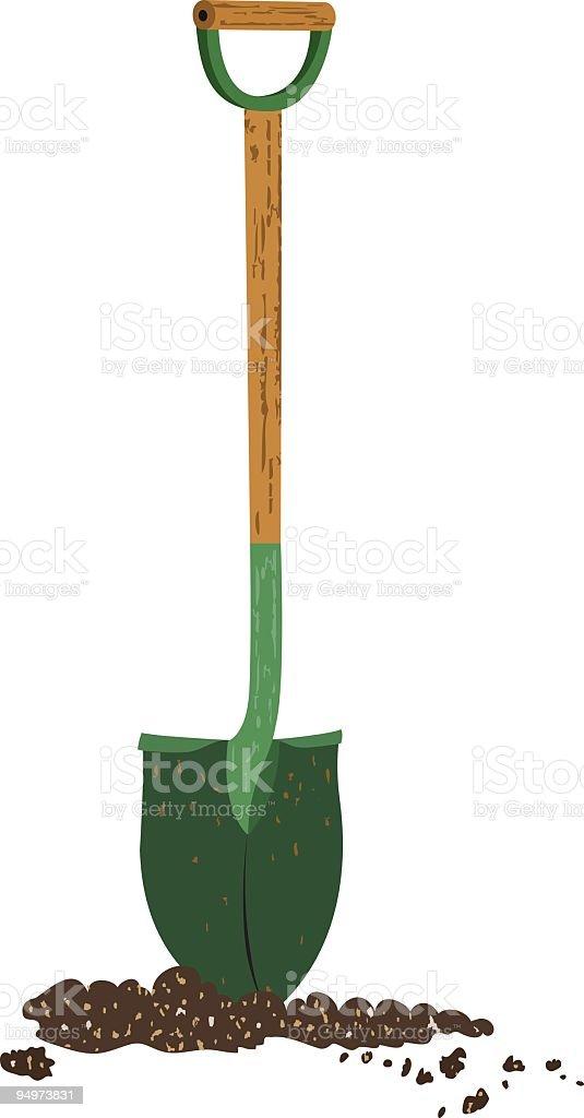 Shovel and Soil royalty-free stock vector art