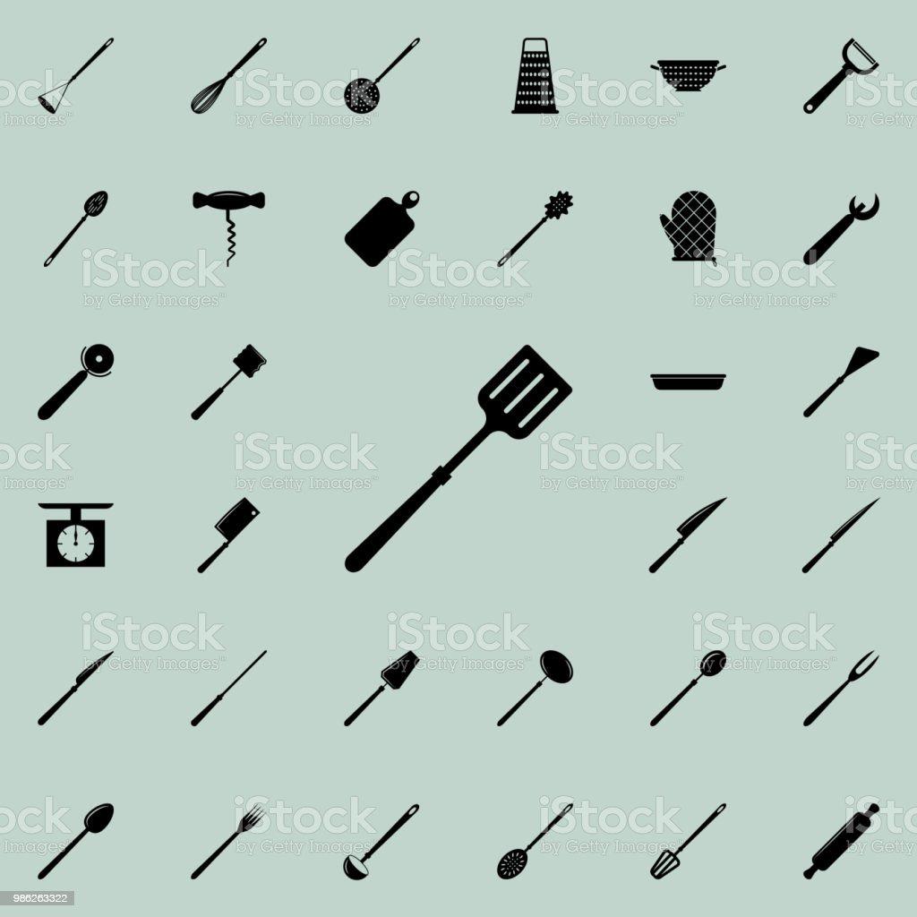 Shovel Icon Detailed Set Of Kitchen Tools Icons Premium Quality ...