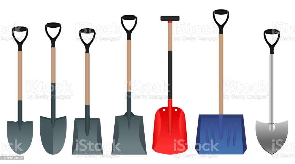 Shovel vector design vector art illustration