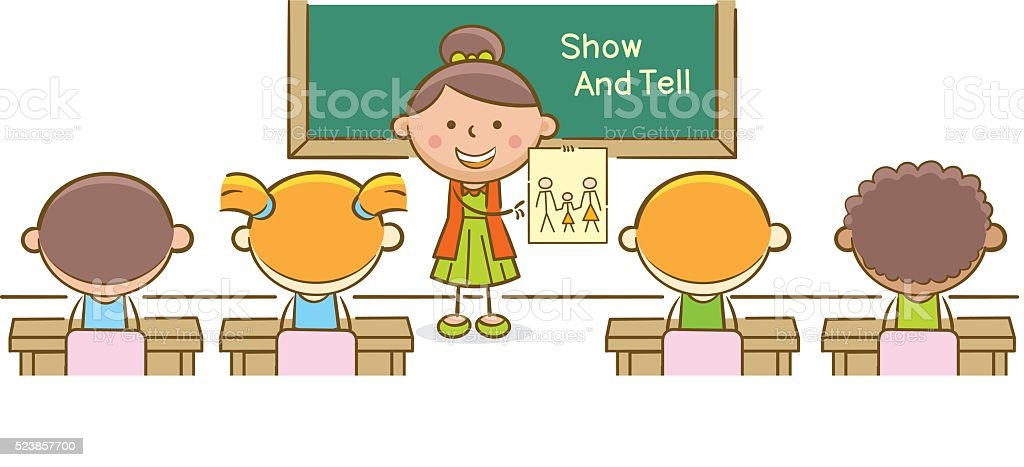 royalty free show and tell clip art vector images illustrations rh istockphoto com show and tell clipart black and white Cartoon Show and Tell