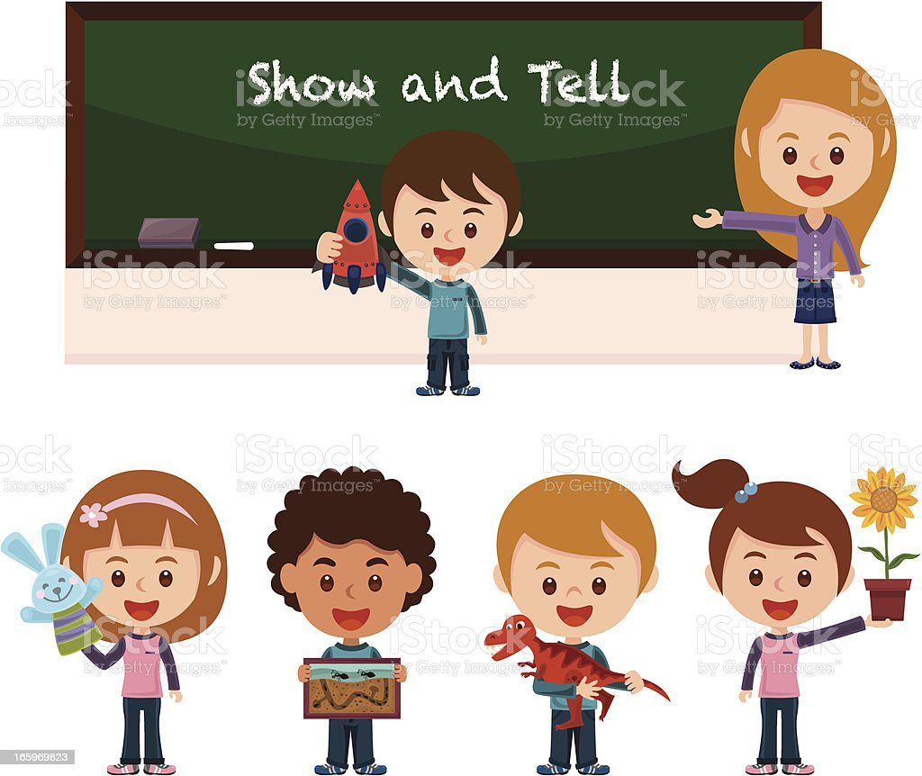 royalty free show and tell kids clip art vector images rh istockphoto com show n tell clipart show and tell clipart free