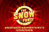 istock Show font set collection, letters and numbers symbol. Vector 1304677458