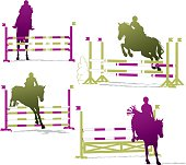 Show Jumping Horses Silhouettes