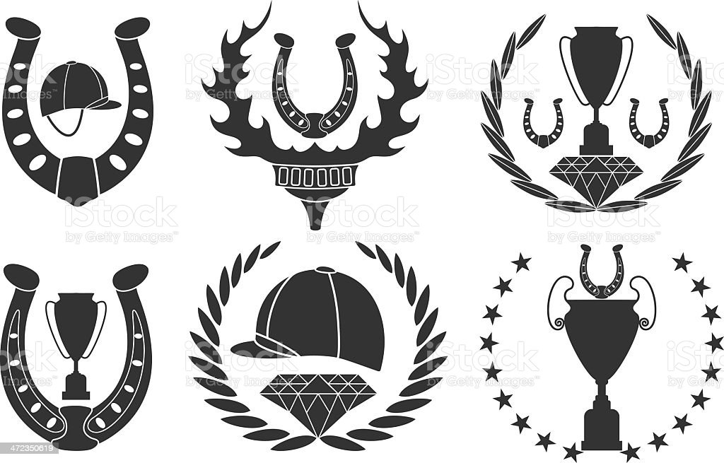 Show jumping royalty-free stock vector art