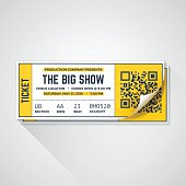 Show tickets with curled corner and space for your content. EPS 10 file. Transparency effects used on highlight elements.